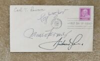 CIVIL RIGHTS FDC SIGNED ANDREW YOUNG CARL ROWAN JAMES FARMER NTOZAKE SHANGE