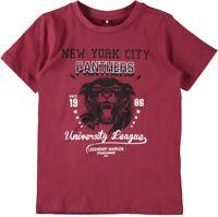NAME IT Jungen T-Shirt NKMLanter weinrot Größe 116 bis 146/152