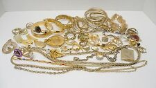 Estate Large Lot Gold-Tone Jewelry, Bracelets, Rings, Necklace 50 plus