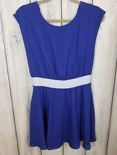 Dina Be NWT Dress Size Small Blue Short Open Back Lined Sleeveless