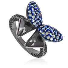 Swarovski Ladies Ruthenium Plated Ring