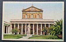 Basilica St. Paul Italy Rome Postcards Postcard 1930's