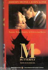 M BUTTERFLY (1993)  VHS Ed. WB  Jeremy Irons John Lone - da una Storia vera