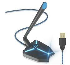 IUKUS USB Gaming Microphone Omnidirectional Laptop PC MAC Blue LED NEW 2020