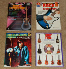 4 Electric Guitar Instructional Books (Women Rock, Play Along, Rock, Jam Trax)