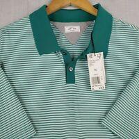 New ADIDAS ADIPURE Size XL Mens Polo Shirt Golf Casual Green Stretchy UPF $90
