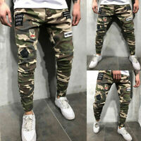 Men's Combat Cargo Jeans Casual Outdoor Military Army Camo Work Pants Trousers