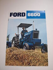 Ford 6600 Tractor Color Brochure 12 pg. original vintage '75 MINT