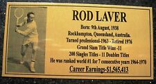 Tennis ROD LAVER Photo Gold Plaque Free Postage