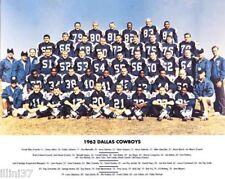 1963 DALLAS COWBOYS FOOTBALL TEAM 8X10 PHOTO