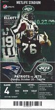 2013 NFL NEW ENGLAND PATRIOTS @ NEW YORK JETS FULL UNUSED FOOTBALL TICKET