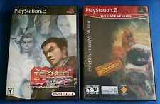 Ps2 Tekken Tag Tournament & Twisted Metal-2 Game Bundle! Authentic Playstation 2