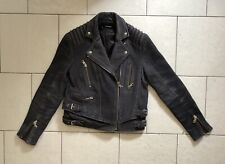 The Kooples Leather Moto Biker Jacket Lambskin Coat XS Urban Boho Retro Buckle
