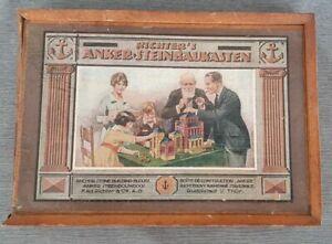 Richter´s Anker Steinbaukasten 2 1/2-34 Bausteine z.Ergänzen ALT Antik Spielzeug