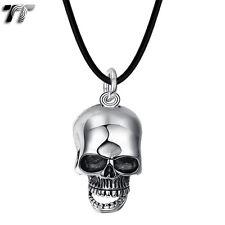 Skull Pendant Necklace (Np300) New Tt 316 Stainless Steel 3D