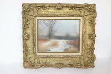 "Robert Hamblen (1932-2017) Signed Realist Landscape  Gold Framed ""Late March"""