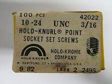 """100 new HOLO-KROME 42022 Allen 10-24 UNC x 3/16"""" Cup Point, Socket Set Screws"""