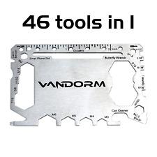 Vandorm Multi Tool Card 46 in 1 Wallet SOS Mens Gift Utility Bike Tool