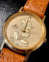 Vintage Lorus Quartz Disney Mickey Mouse Gold Coin Watch - Preowned, Never Worn
