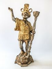 Bronze Blackamoor Sculpture Statue Candle Holder Doorstop Moorish Moors