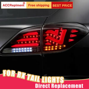 For Lexus RX450H LED Taillights Assembly Dark / Red LED Rear Lamps 2010-2015