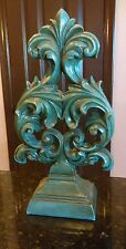 Large Hobby Lobby Teal Finial Home Decor Accent Piece Turquoise Aqua Statue Nice