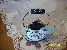 California Cleminsons Vintage Teapot  Tea Kettle Hanging Ceramic Wall Pocket