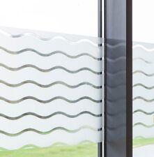 50 cm x 45 cm Dekorfolie statische Fensterfolie Wave Wellen Milchglasfolie