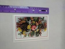 Colonial Williamsburg Foundation Blank Note Card Pomegranate, Pinecones Spray