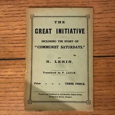 VLADIMIR LENIN, The Great Initiative (1920), SIGNED