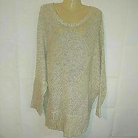 Vintage Ashley Stewart Sweater Gold Metallic Glitter Dolman Sleeves Size 22 24