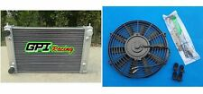 ALUMINUM ALLOY RADIATOR +FAN VW GOLF/RABBIT/SCIROCCO GTI MK1 MK2 8V M/T