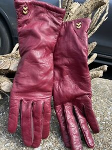 ISOTONER MAROON LEATHER WITH WARM LINING ONE SIZE