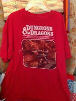 Dungeons & Dragons D&D Fantasy Role Playing Game Red T Shirt Size XL *WoW*