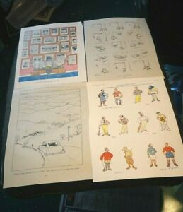4 Antique prints from punch by Fougasse ideal for framing (a)