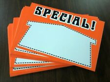 Special Display Sale Price Signs 11 X 14 100 Lot Fluorescent Orange