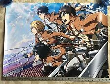 Attack On Titan Anime Voice Actors Signed Autograph Poster Eren Mikasa Armin