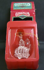 SNOWMAN SPUN GLASS Christmas Tree Ornament by MATRIX - NIB