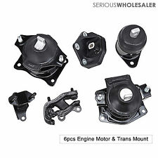 Engine Motor Trans Mount 6Pcs For 2003-2008 Honda Accord 3.0L Auto Trans