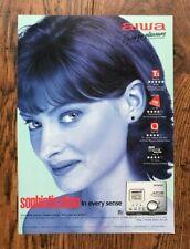 Original Vintage 90s UK Magazine 1998 Advert Ad AIWA Mini Disc
