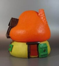 Vintage SMURF Schtroumpf Houses Large orange roof mushroom Bully Peyo w/ Germany
