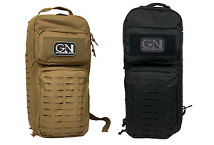 Tactical Single Sling Pack With Laser Cut MOLLE W/ 3.0 Liter Replacement Bladder