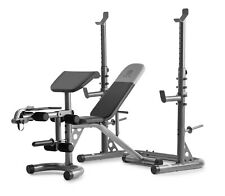 Weight Bench Set Adjustable Workout Benches With Squat Rack Home Gym Equipment