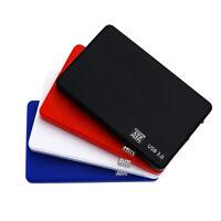 AM_ Protable 2.5Inch HDD SSD Case Sata to USB 3.0/2.0 Hard Drive Box Enclosure 5
