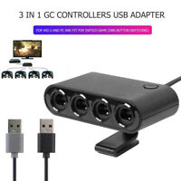 4 Ports GC GameCube Controller USB Adapter for Nintendo Switch Wii U PC Console
