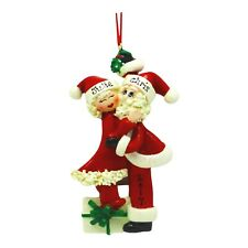 PERSONALIZED Mistletoe Santa & Mrs Claus Couple Christmas Ornament Holiday Gift