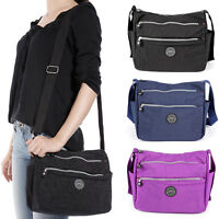 Women Tote Messenger Cross Body Nylon Handbag Bag Ladies Hobo Shoulder Bag Purse