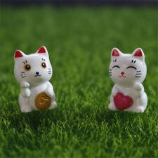 1pc Mini Plutus cat Fairy Garden Miniatures Micro Landscape Resin Craft decor VP