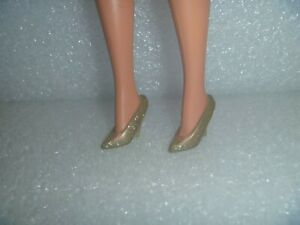 Barbie Shoes - Gold Almost Translucent Glitter Pumps