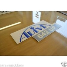 ADRIA Adiva 642 UP Name & Model Number Caravan Sticker Decal Graphic - SINGLE